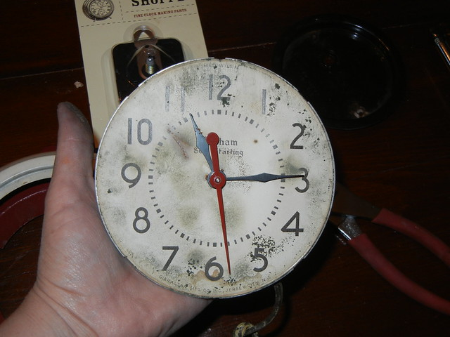 Gutting an old clock