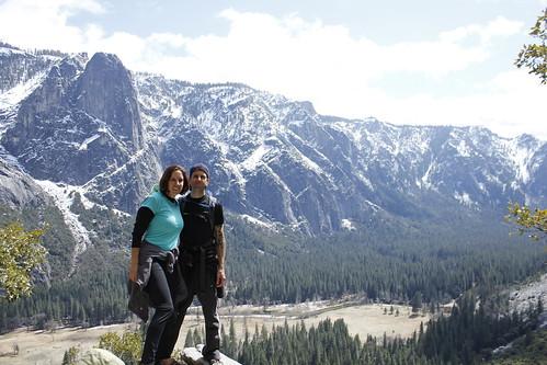 Sarah and Chris hiking Upper Falls