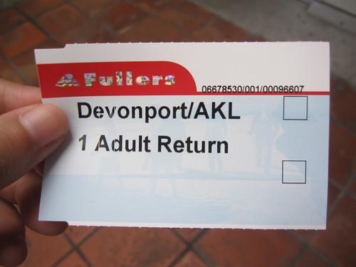 Ferry ticket to Devonport