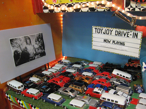 Toy Joy Drive-In with toy cars