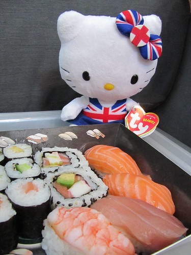 Hello Kitty has sushi
