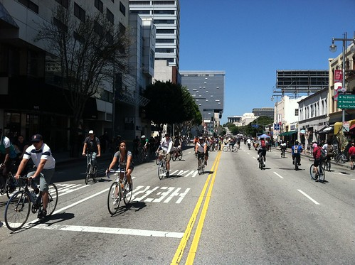First St. at CicLAvia