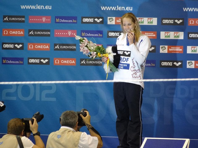 Petra Chocova (CZE) European champion in the 50 breast