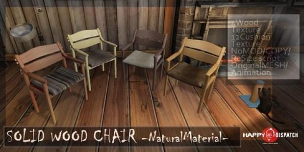SOLID WOOD CHAIR -NaturalMaterial-