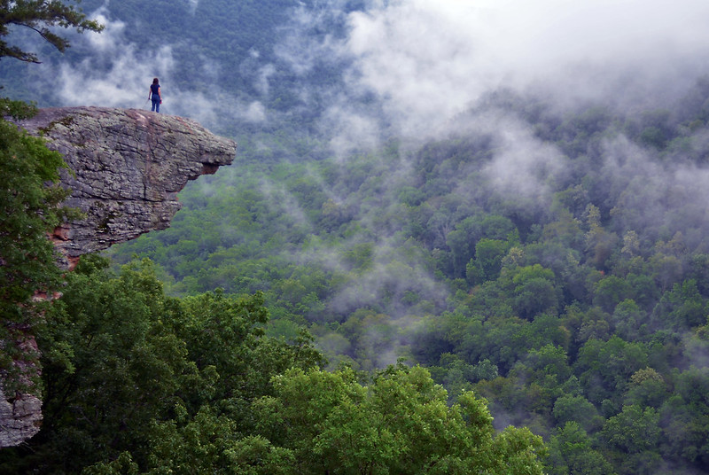 Up In The Clouds on Hawksbill Crag / Whitaker Point in the Ozark Mountains, Arkansas