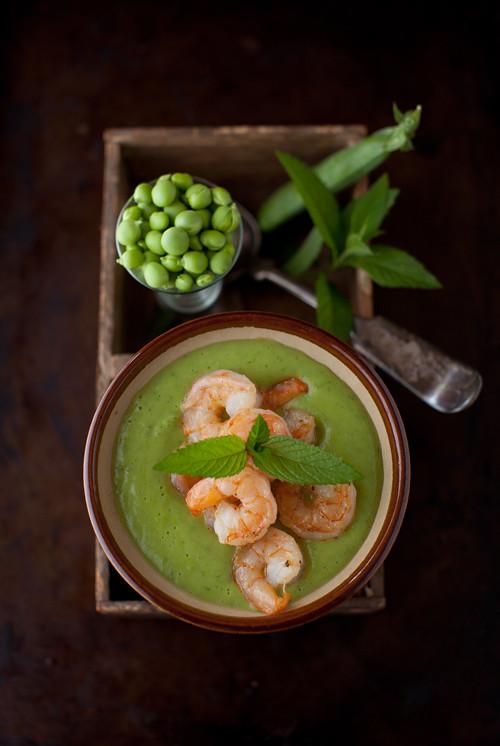 Sweet Pea Soup Shrimp 3