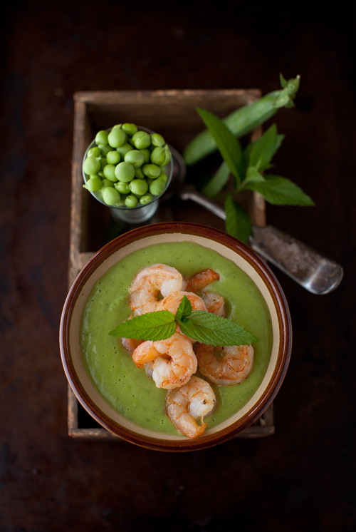 Sweet Pea Soup Shrimp 3