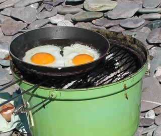 fried eggs on the barbie