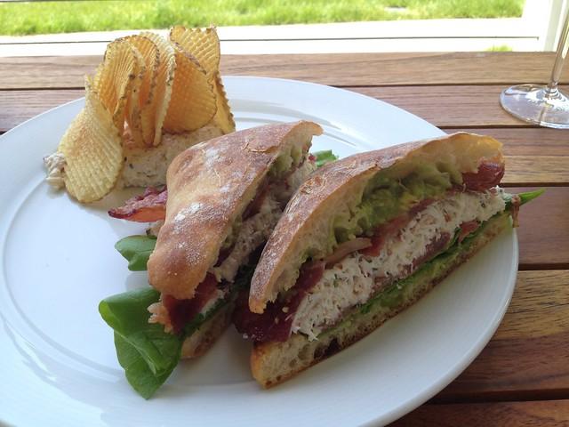 Fresh local dungeness crab sandwich - Farley Bar