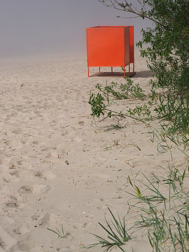changing cubicle at Stroomi beach, Tallinn, Estonia