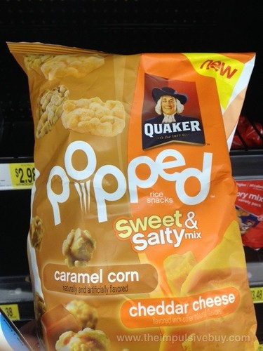 Quaker Popped Sweet Salty Caramel Corn Cheddar Cheese