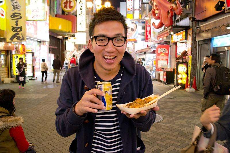 Suntory Premium Malt Beer and Takoyaki
