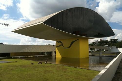 Oscar Niemeyer Museum in Curitiba, Brazil