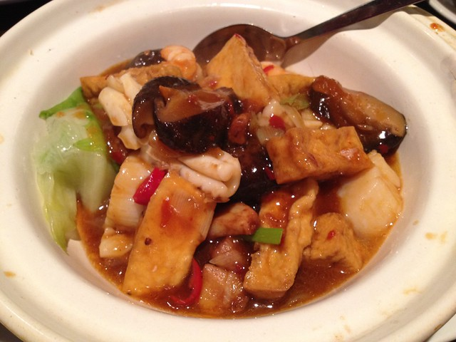Spicy mixed seafood and tofu claypot - Jun Ming Xuan