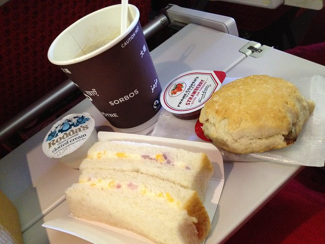 Afternoon tea - Virgin Atlantic
