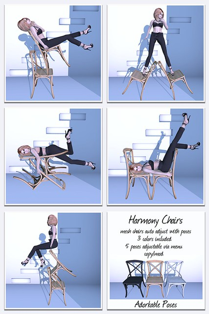 Adorkable Poses:  Harmony Chairs