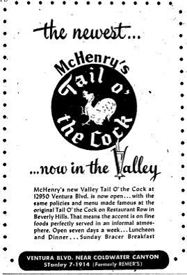 tail cock opens valley ad