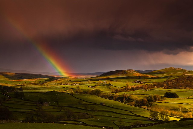 Rainbow and Sunlight, Yorkshire Dales (Explored)