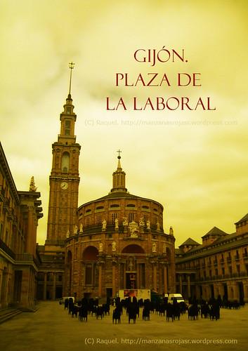 Plaza de la Laboral. Gijón. Asturias