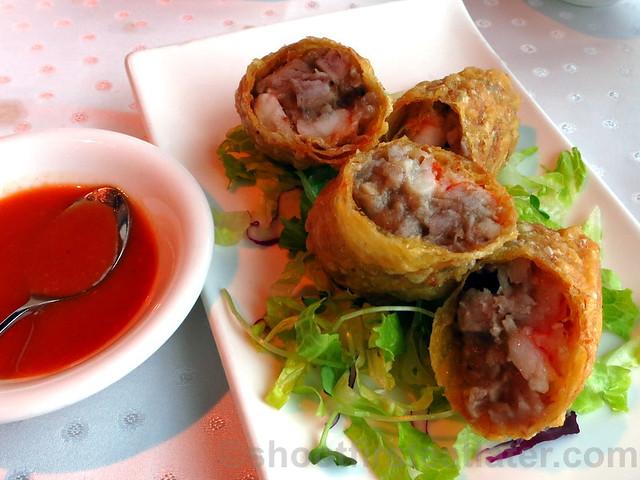 deep fried taro & shrimp roll NT$180