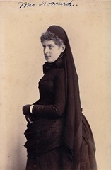 Ella Blanchard Howard in Mourning, Albumen Carte de Visite, 1886