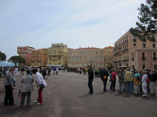 crowds at the palace in monaco