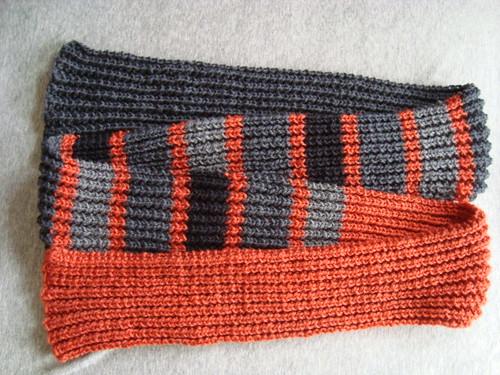 Orange/Gray/Black scarf