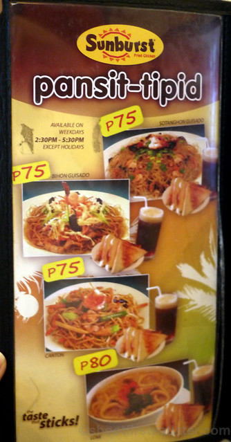 Sunburst Fried Chicken menu (Cebu)-002