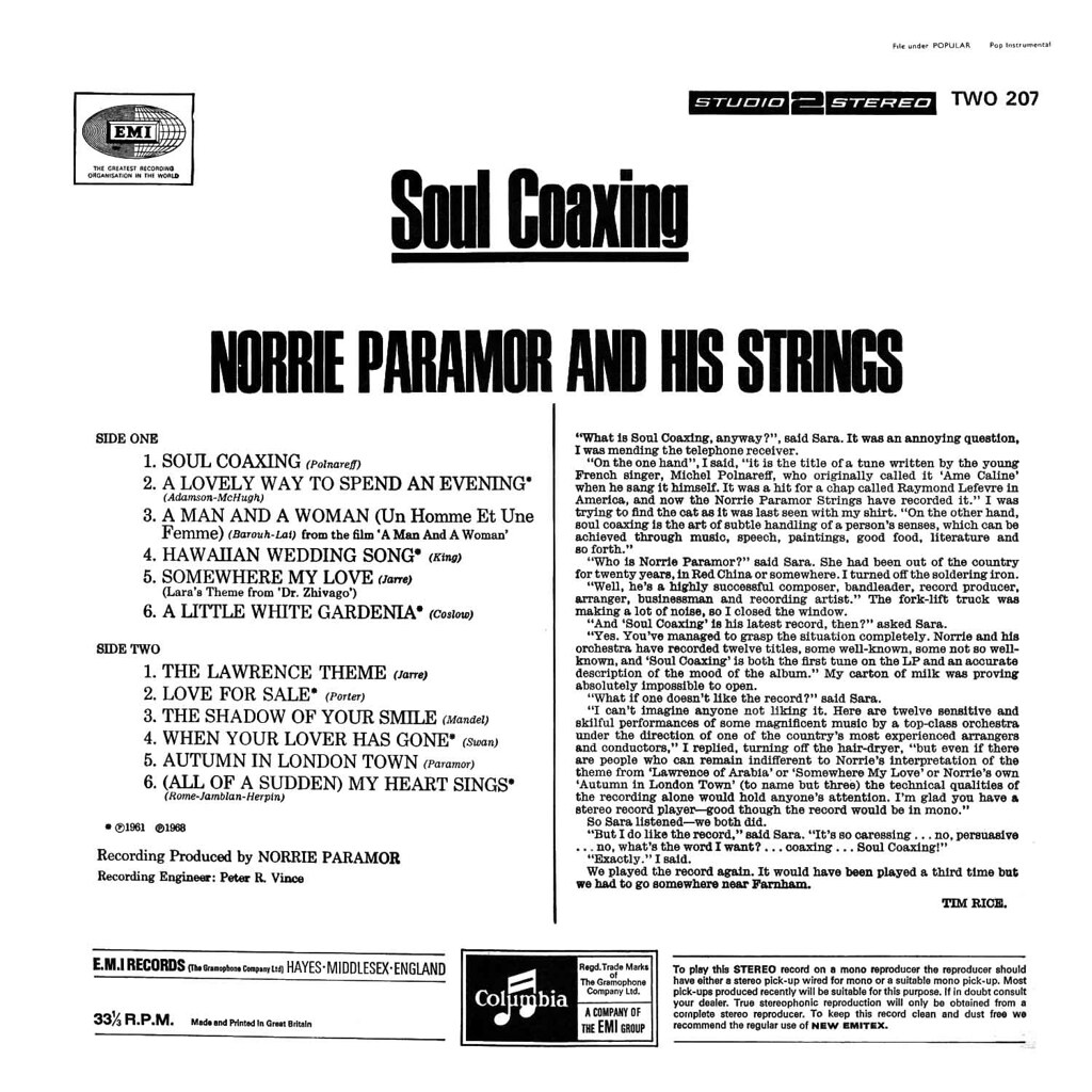Norrie Paramor Warm Willing