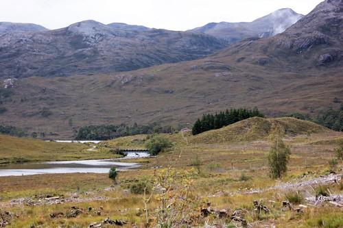A896 near Loch Clair