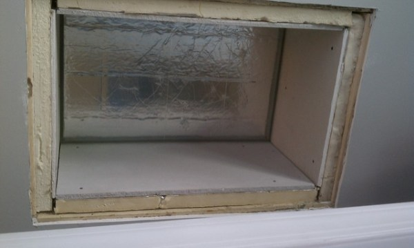 Attic hatch insulated, drywalled