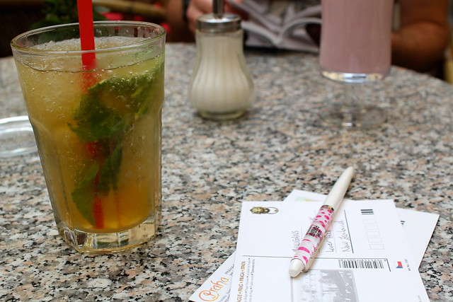 Mojito and postcards