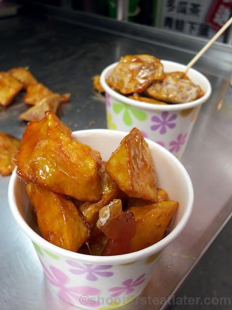 Tamsui, Taipei- candied sweet potatoes & taro 2