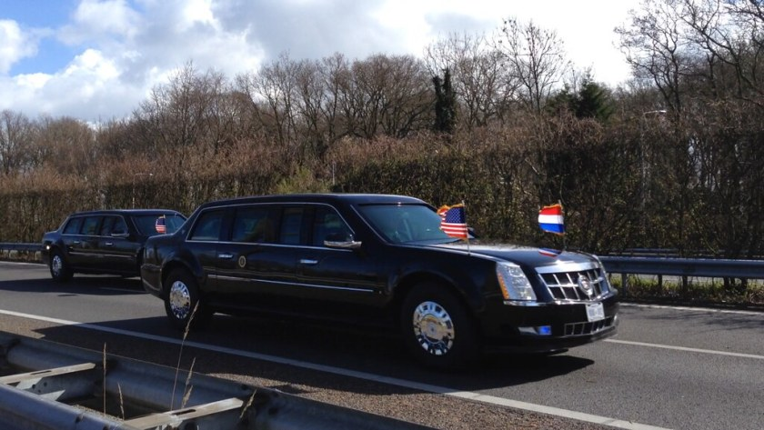 President Obama's Motorcade in Holland