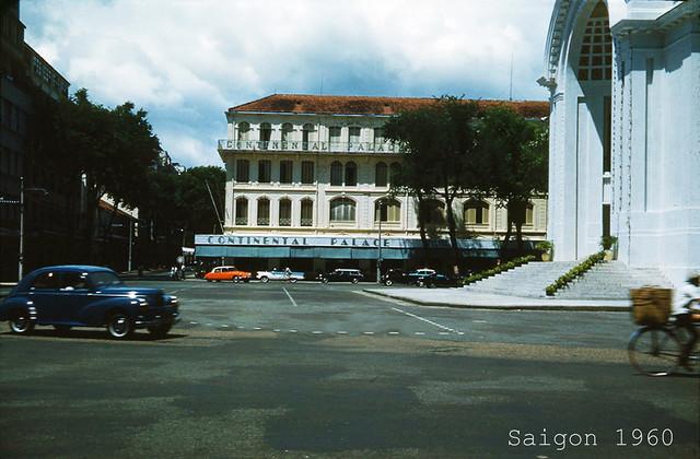 Saigon 1960 - Street Scene, Continental Palace Hotel