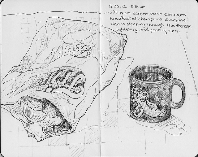 Camping Sketches - Breakfast