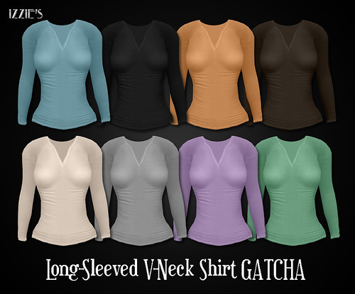 Long Sleeved V-Neck Shirt (Gatcha)