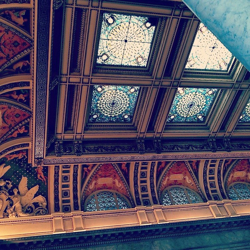 Part of the lovely ceiling of the Great Hall of The Library of Congress (Instagrammed photo)- February 2012