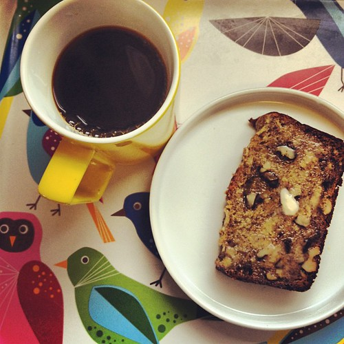 Banana bread, pour over.