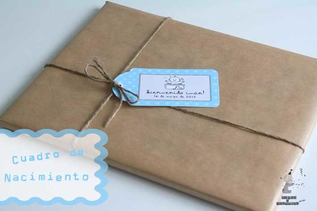 Envoltorio regalo papel kraft