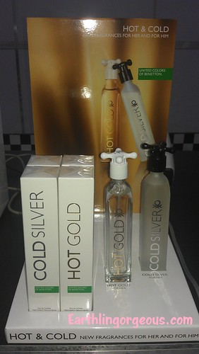 Cold Silver and Hot Gold Fragrances by Benetton