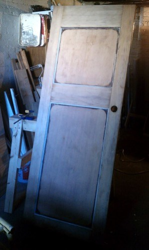 Nursery door after stripping