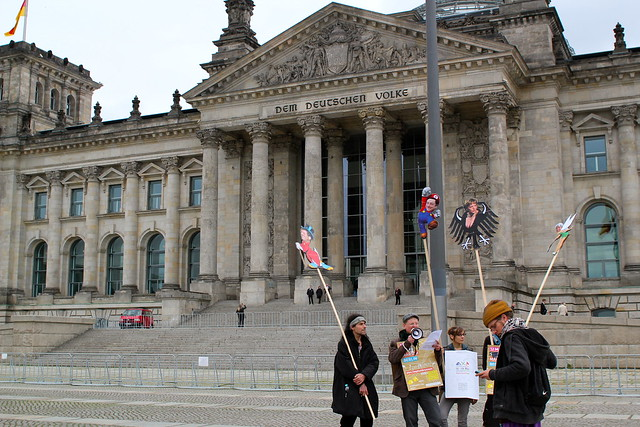 Protest outside the Reichstag building