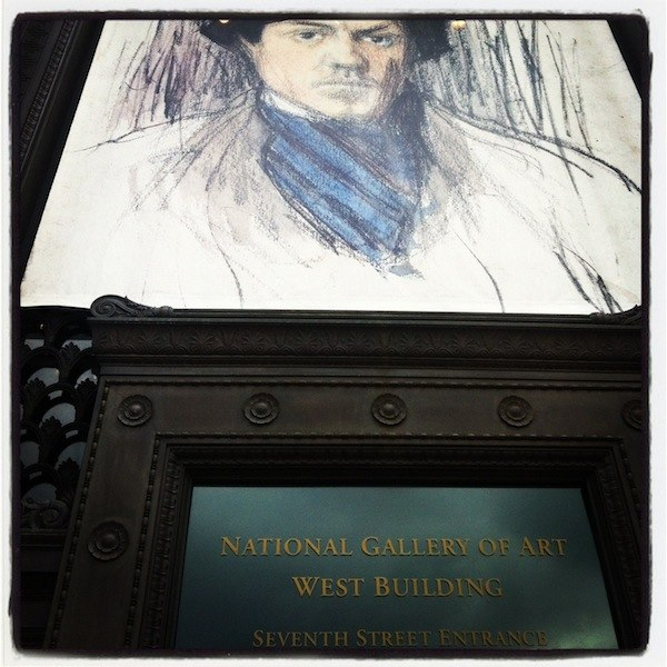 A Picasso drawing outside an entrance to the National Gallery of Art (Instagrammed photo)- February 2012