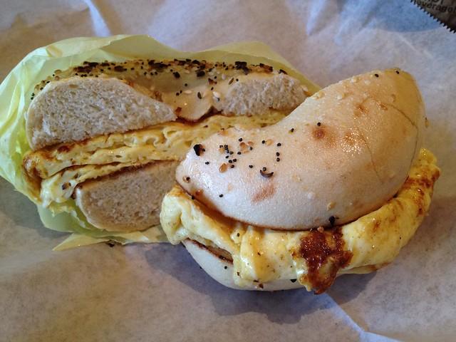 Scrambled eggs breakfast bagel - Katz Bagels