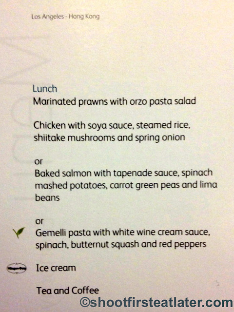 Cathay Pacific Economy Meal LAX to MNL-006