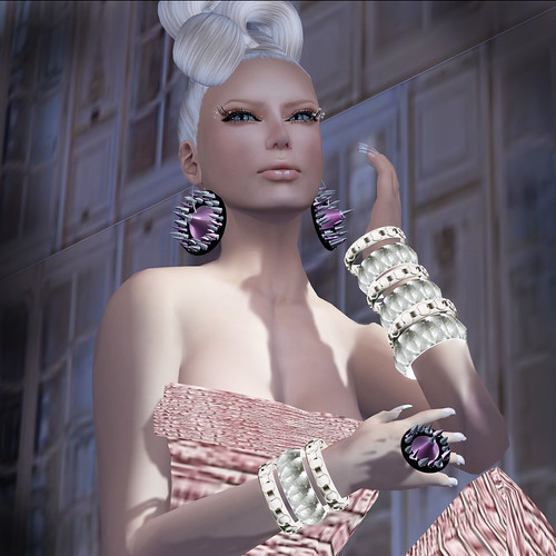 FZaPP The Fashion Cache Purple Earrings & Ring NEW!!!! by Riviera Medier