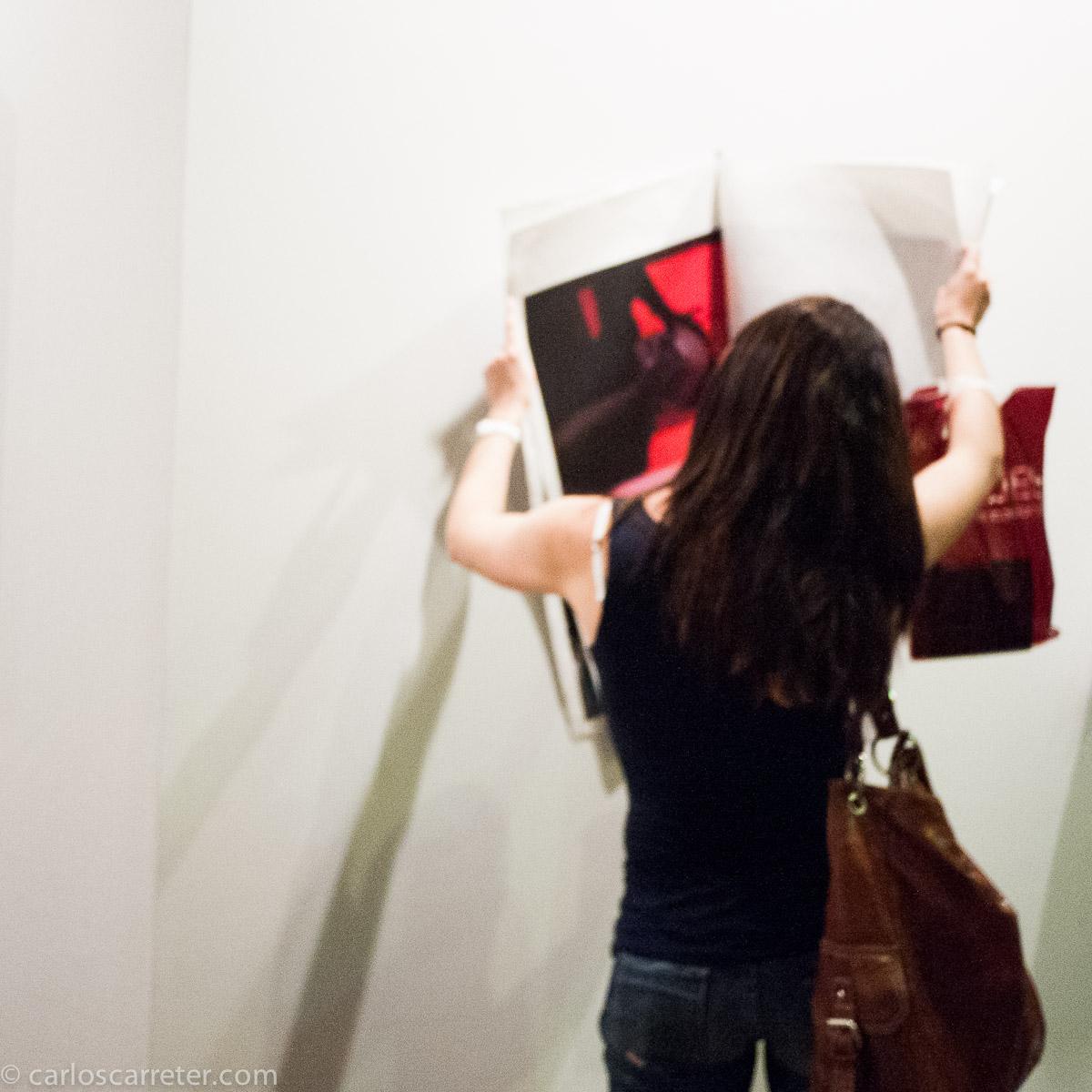 Que rollo de exposición en el Instituto Cervantes