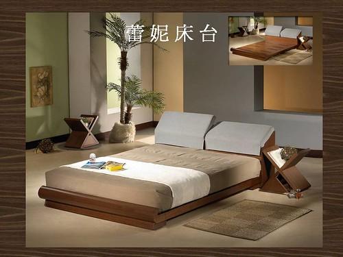 掀床工廠推薦款-蕾妮人造胡桃床台-高質感排骨透氣床架組1
