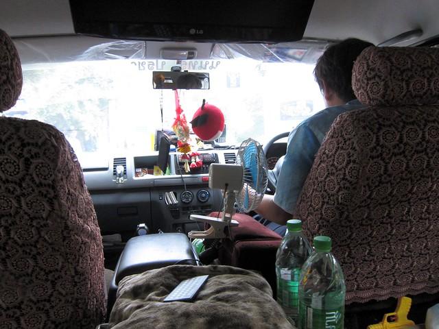 Inside Mr. Chim's van